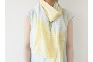 Scarf (Yellow×Grey)