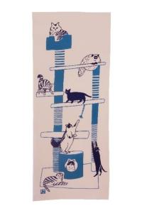 Japanese towel Cat tower