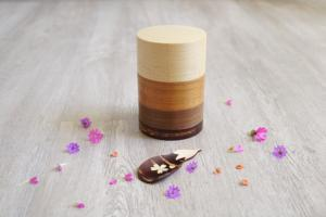 Handcrafted tea box and spoon set