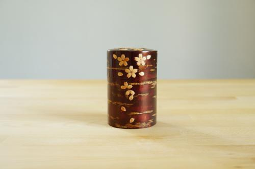 Tea box cherry petals